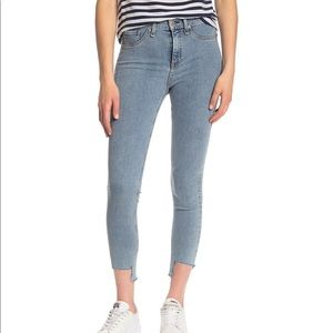 Rag & Bone High Rise Step Hem Skinny Jeans